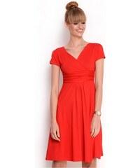 Oxyd Delší vycházkové šaty s krátkým rukávem barva červená S M ecfb2cdd0b