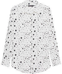 KATE MOSS BY EQUIPMENT Slim Signature Clean Nature White True Black