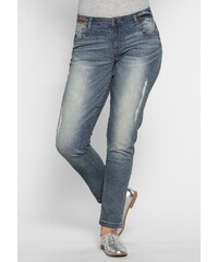 Große Größen: Joe Browns Schmale Stretch-Jeans Joe Browns, blue used, Gr.20-29