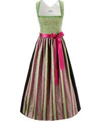 Große Größen: Dirndl lang, besticktes Oberteil, Hannah, grün-pink, Gr.34-52