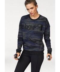 Große Größen: adidas Performance Sweatshirt »ESSENTIALS LINEAR SWEATSHIRT AOP«, dunkelgrau, Gr.S (36/38)-L (44/46)
