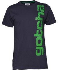 Gotcha Herren Vertical ed T-Shirt Blau