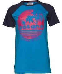 Gotcha Herren Raglan Circle T-Shirt Blau