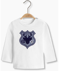 Esprit Bavlněné tričko s dl. rukávem a potisk erbu