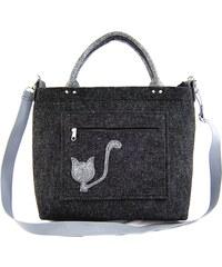 93b11e5e48 Vysněné kabelky Kabelka Excent Kočička ocasatá na tm. šedé