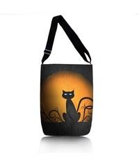 Kabelka přes rameno - Kočka na měsíci