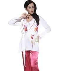 Miran Krátký župánek Leah bílý s květy