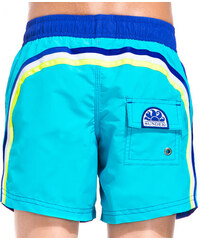 SUNDEK two tone mid-length swim shorts