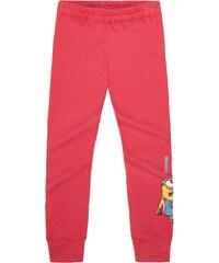 Minions Jogginghose pink in Größe 116 für Mädchen aus 80% Baumwolle 20% Polyester