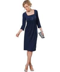 LADY Damen Lady Jersey-Kleid mit funkelnder Paillettenverzierung blau 36,38,40,42,44,46,48,50,52,54