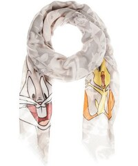 CODELLO Damen Tuch mit Looney Tunes Print grau