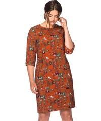 Damen Trend Kleid im Vintage-Look SHEEGO TREND braun 40,42,44,46,48,50,52,54,56,58