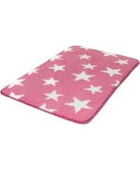 MEUSCH Badematte Stars Höhe 15 mm rutschhemmender Rücken rosa 1 (60 x 60 cm ),3 (60 x 90 cm),4 (70 x 120 cm)
