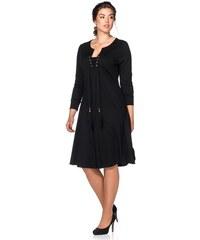 Damen Style Jerseykleid SHEEGO STYLE schwarz 40,42,44,46,48,50,52,54,56,58