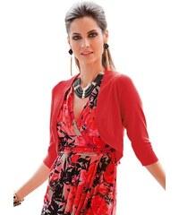 Damen Strickbolero mit breiten gerundeten Blenden TOGETHER rot 36,38,40,42,44,46,48,50,52