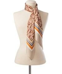 Damen Seidentuch / Foulard Snake & Stripes CODELLO grau