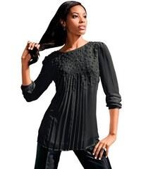 LADY Damen Lady Bluse in fließender leicht transparenter Chiffon-Qualität schwarz 36,38,40,42,44,46,48,50,52,54