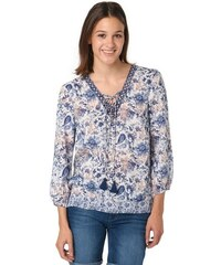 Tom Tailor Damen Bluse print mix blouse weiß 34,36,38,40,42