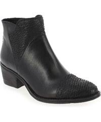 Boots Femme Khrio en Cuir Noir