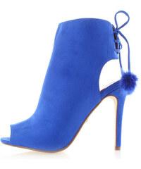 Ideal Modré otevřené kotníkové kozačky Jasmyn