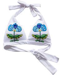 KOKO Bílá květovaná plavková podprsenka Funny Flowers