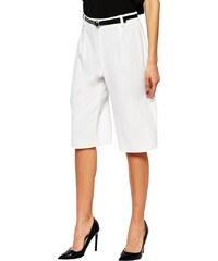 HUSH HUSH Bílé elegantní šortky