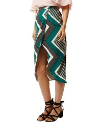 RI Wrap sukně se zeleným cik cak vzorem