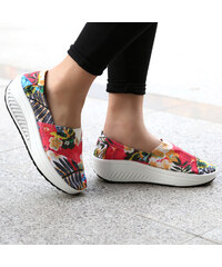Lesara Slip-on à motifs floraux pour le fitness