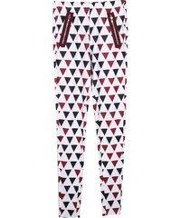 Lesara Leggings mit Dreieck-Print - Dunkelrot - S