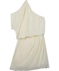 Lesara Elegantes One-Shoulder-Kleid - Creme - XS
