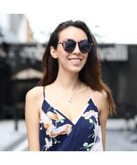 Lesara Sonnenbrille mit geblümtem Rahmen