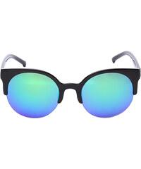 Lesara Halbrand-Sonnenbrille mit runden Gläsern - Blau