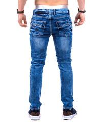 Lesara Skinny Fit-Jeans im Biker-Look - Hellblau - 38