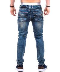 Lesara Skinny Fit-Jeans im Biker-Look - Grün - 30