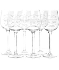 Excellent houseware Lot de 6 verres à vin - transparent