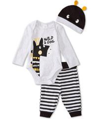C&A Baby 3-teiliger Baby-Pyjama aus Bio-Baumwolle in Grau