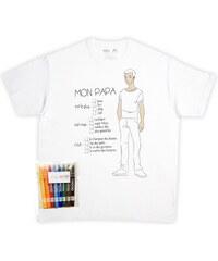 Rigolobo T-shirt à colorier - blanc