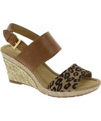 Sandály na klínku Gabor hnědé, Ozelot/Vacch 42.825.55