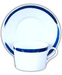 Site Corot Tasse à thé avec soucoupe en porcelaine - bicolore