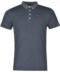 Lee Cooper Short Sleeve Chambray Polo Shirt pánské Navy Marl
