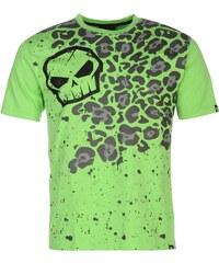 Triko pánské No Fear Moto Graphic Green Leopard