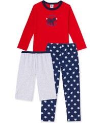 Petit Bateau Pyjama 3 pièces - rouge