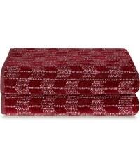 Calvin Klein Home Aurora - Serviette de bain - rouge