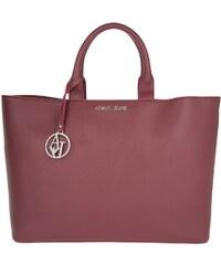 Armani Jeans Sacs portés main, Eco-Saffiano Leather Shopping Bag Bordeaux en rouge