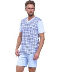 Taro Pánské pyžamo Roman světle modré nadmerná velikost