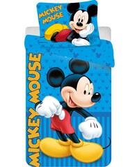 Jerry Fabrics Dětské oboustranné povlečení Mickey Mouse Blue, 140x200 cm/70x90 cm