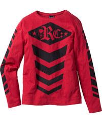 RAINBOW T-shirt manches longues Slim Fit rouge homme - bonprix