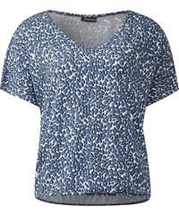 Street One - T-shirt col V Georgitta - endless blue