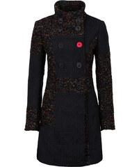 RAINBOW Manteau multi-matière et motif noir manches longues femme - bonprix