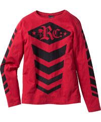 RAINBOW Langarmshirt Slim Fit in rot für Herren von bonprix